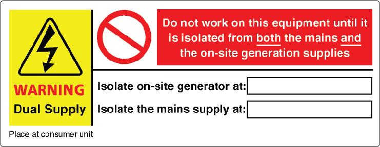 u0026 39 solar pv system warning label set u0026 39